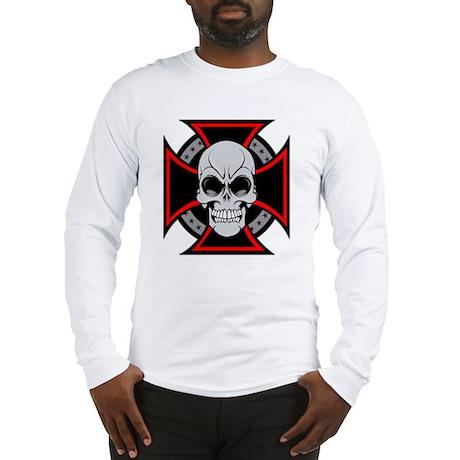Iron Cross and Skull Long Sleeve T-Shirt