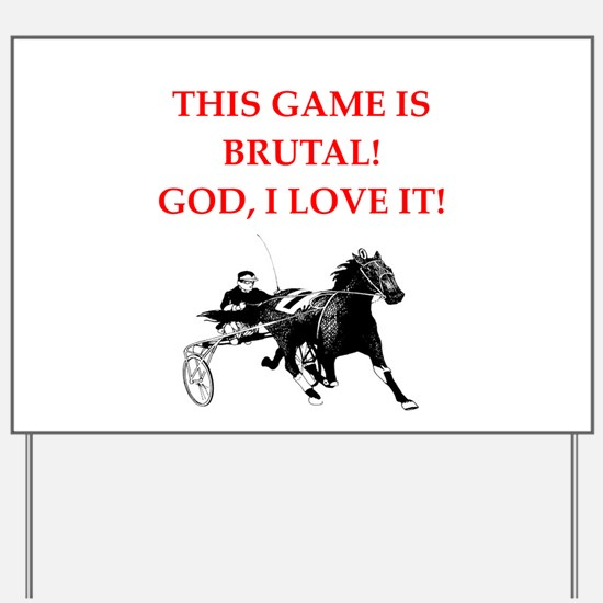 harness racing Yard Sign