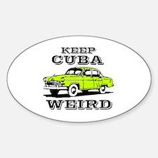 Cute Cuba cars Sticker (Oval)