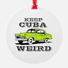 Unique Cuba cars Ornament