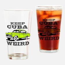 Cool Cuba cars Drinking Glass
