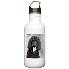 Black Poodle Water Bottle
