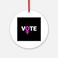 Women Vote Round Ornament