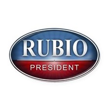 Marco Rubio for President 2016 Oval Car Magnet