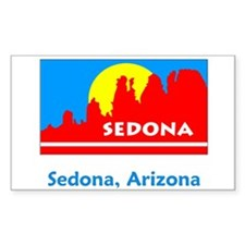 Sedona AZ Flag Rectangle Decal