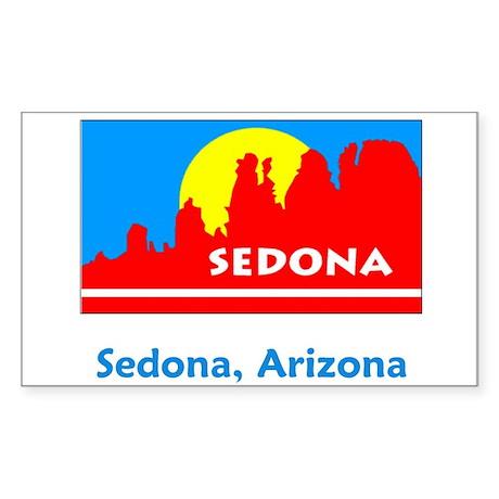 Sedona AZ Flag Rectangle Sticker