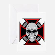 Iron Cross and Skull Greeting Card