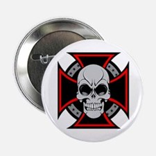 "Iron Cross and Skull 2.25"" Button"