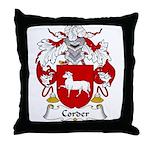 Corder Family Crest Throw Pillow