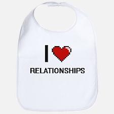 I Love Relationships Digital Design Bib