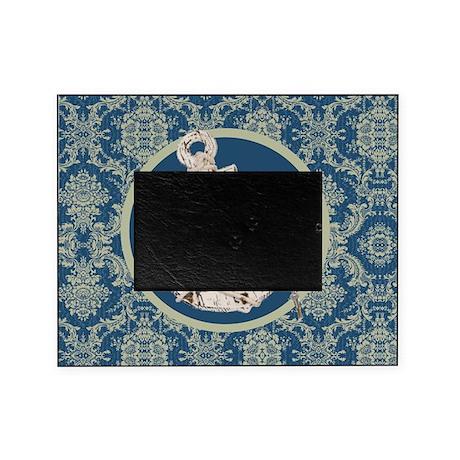 navy blue damask anchor picture frame by listing store 62325139. Black Bedroom Furniture Sets. Home Design Ideas