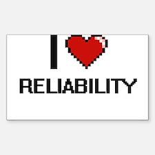 I Love Reliability Digital Design Decal