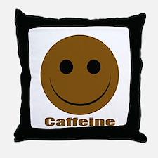 """Caffeine Smiley"" Throw Pillow"