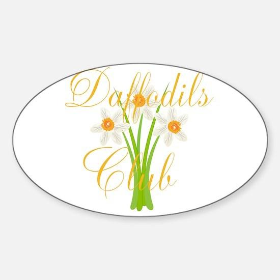 Daffodils Club Gardener Florist Decal