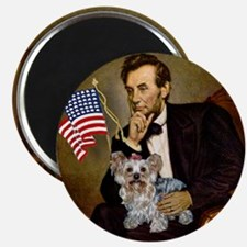 Lincoln & Yorkie Magnet