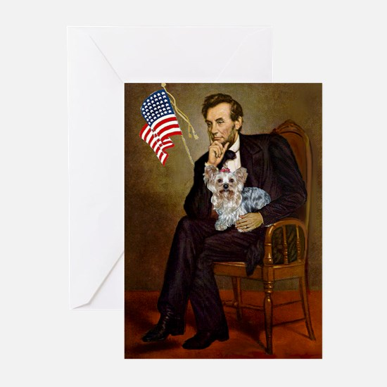 Lincoln & Yorkie Greeting Cards (Pk of 10)