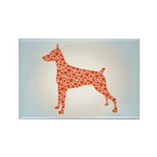 Dobe of Hearts Rectangle Magnet