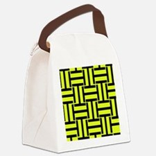 Bold Yellow and Black T Weave Canvas Lunch Bag