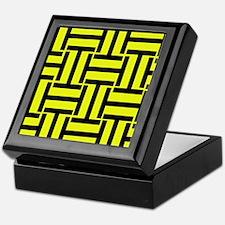 Bold Yellow and Black T Weave Keepsake Box