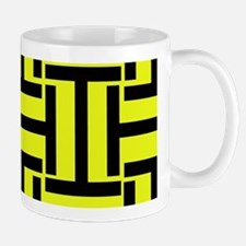 Bold Yellow and Black T Weave Mugs