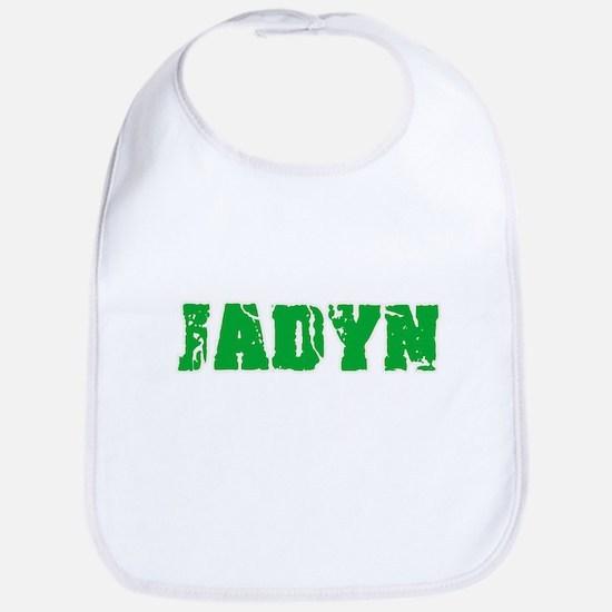 Jadyn Name Weathered Green Design Baby Bib