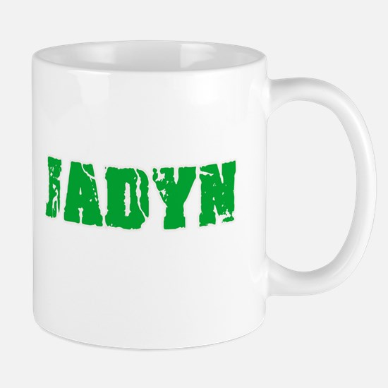 Jadyn Name Weathered Green Design Mugs