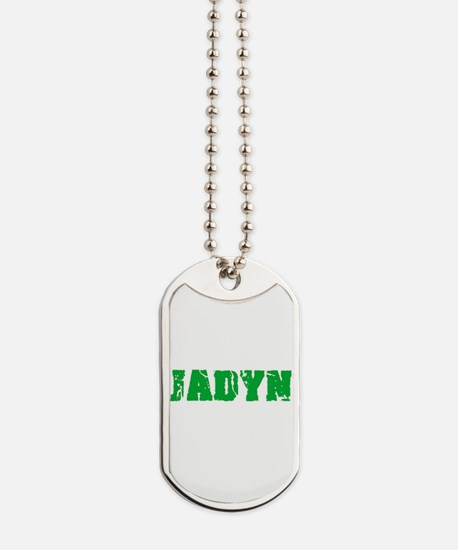 Jadyn Name Weathered Green Design Dog Tags