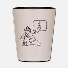 Funny Kung fu Shot Glass