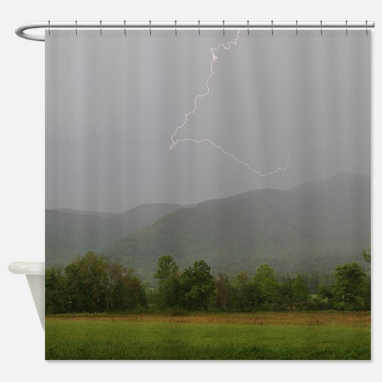 Lightning at Cades Cove Shower Curtain