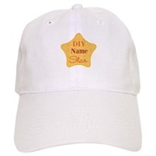 Patterned Yellow Hobby Star Baseball Baseball Cap
