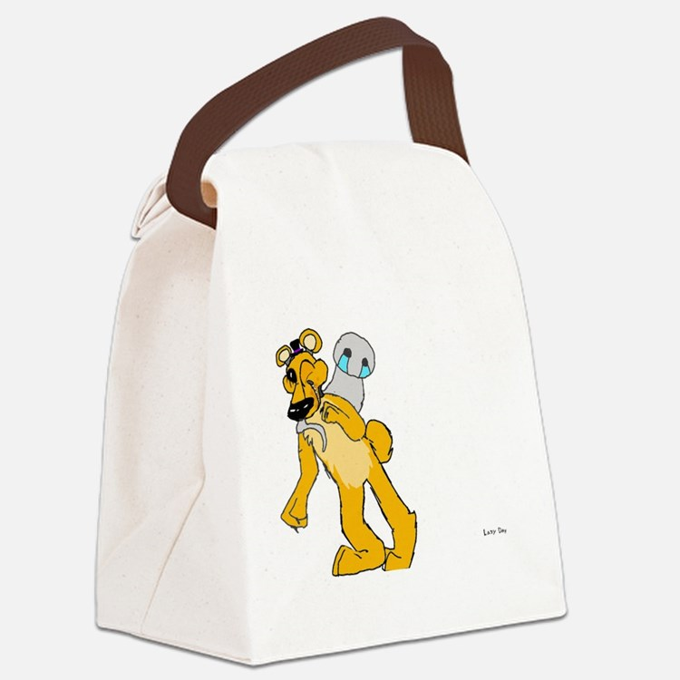 Golden freddy Canvas Lunch Bag