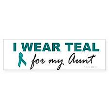 I Wear Teal For My Aunt 2 Bumper Bumper Sticker