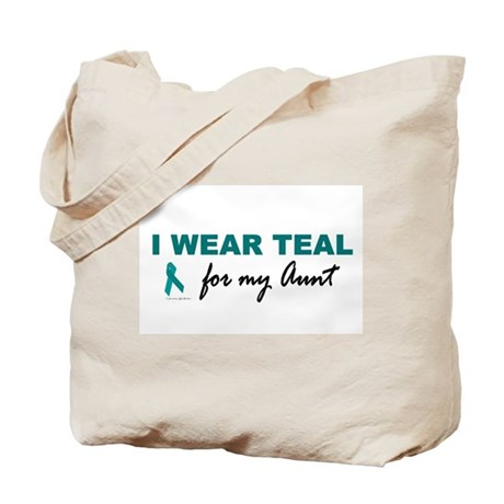 I Wear Teal For My Aunt 2 Tote Bag