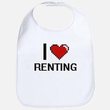 I Love Renting Digital Design Bib