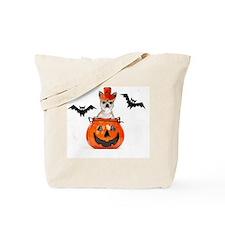 Halloween Chihuahua dog Tote Bag