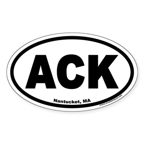 Nantucket ACK Euro Oval Sticker