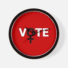 Women Vote Wall Clock