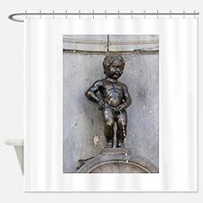 Manneken Pis Belgium Shower Curtain