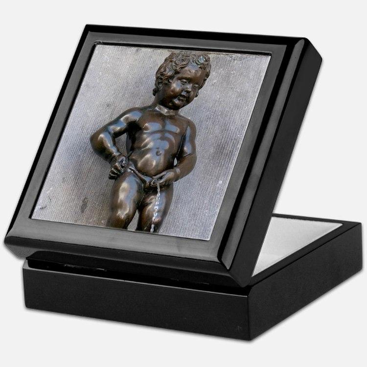 Manneken Pis Belgium Keepsake Box