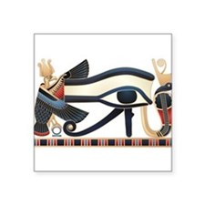 "Cute Pharaohs Square Sticker 3"" x 3"""