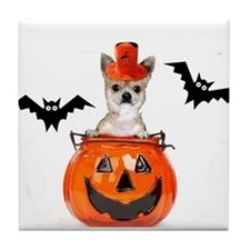 Halloween Chihuahua dog Tile Coaster