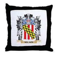Nelson Coat of Arms - Family Crest Throw Pillow