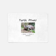 Turtle Power Animal Medicine 5'x7'Area Rug