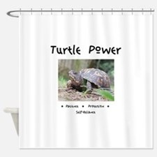 Turtle Power Animal Medicine Shower Curtain