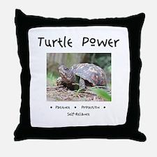 Turtle Power Animal Medicine Throw Pillow