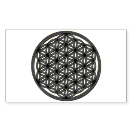 Flower Of Life Rectangle Sticker