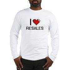 I Love Resales Digital Design Long Sleeve T-Shirt