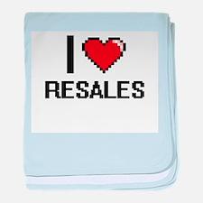 I Love Resales Digital Design baby blanket