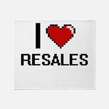 I Love Resales Digital Design Throw Blanket