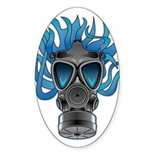 Gas Mask Blue @ eShirtLabs Oval Decal